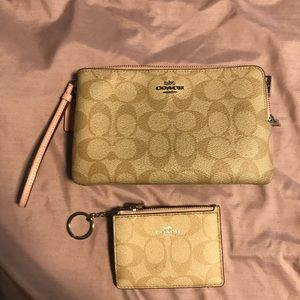 Coach wristlet and ID holder/change purse